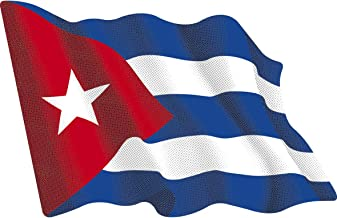 Artimagen Pegatina Bandera Ondeante Cuba Mediana 80x60 mm.