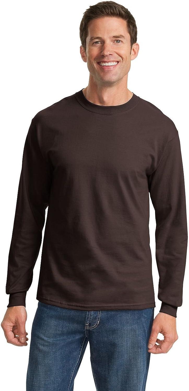 Port & Company Tall LS Essential T-Shirt-LT (Dark Chocolate Brown)