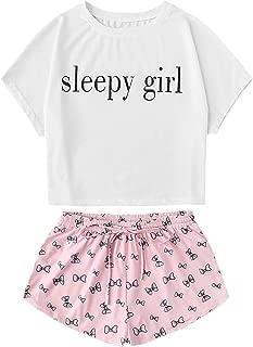 Women's Flamingo Print Cami and Plaid Shorts Pajama Set
