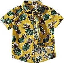 Camisa Manga Corta Bebé-Niños Camisa Hawaiana Imprimir Shirt Tops Blusa