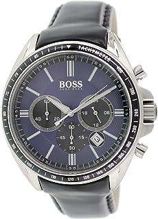 Hugo Boss Mens Quartz Watch, Chronograph Display and Leather Strap 1513077