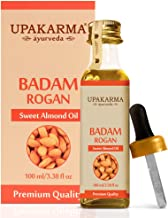 UPAKARMA Ayurveda Natural Cold Pressed Sweet Almond Oil, Badam Rogan for Hair, Skin and Body - 100 ML- Pack of 1