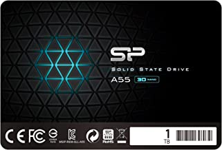 """Silicon Power 1TB SSD 3D NAND A55 SLC Cache Performance Boost SATA III 2.5"""" 7mm (0.28"""") Internal Solid State Drive (SP001TBSS3A55S25)"""