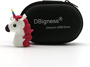 DBigness Lindo Caballo Unicornio Blanco PVC 32 GB USB 2.0 Flash Drives Regalo Divertido de Dibujos Animados USB Memory Stick Almacenamiento de Datos Pendrive