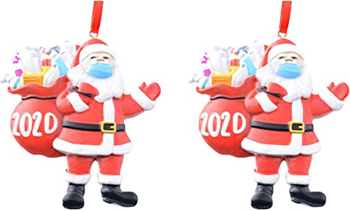 discount OPTIMISTIC Christmas outlet online sale Santa Clause Ornament Decoration Tree Hanging Decorative Pendant, Xmas outlet online sale Tree Holiday Family Christmas Ornaments Tree Crafts Tree Dress up Decor, Pack of 2/4/5/6 sale