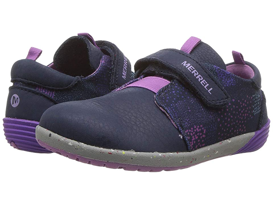 Merrell Kids Bare Steps Sneaker (Toddler) (Navy) Girls Shoes