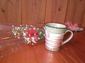 母の日ギフトセット…カーネーション&九谷焼マグカップ*銀彩(ピンク)