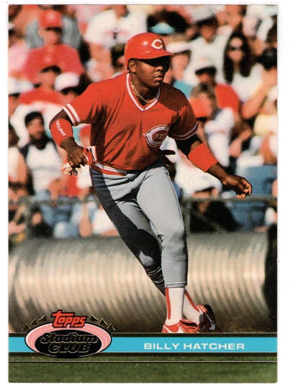 Billy Hatcher - Cincinnati Reds Card Topps 1991 Stadi Baseball Special sale item Max 81% OFF