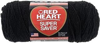 Red Heart Super Saver Yarn Black E300-312 - 3 PACK