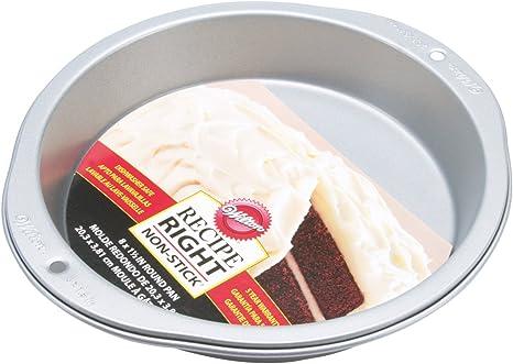 Wilton Round Pan Baking Essentials, 8, Dark Gray