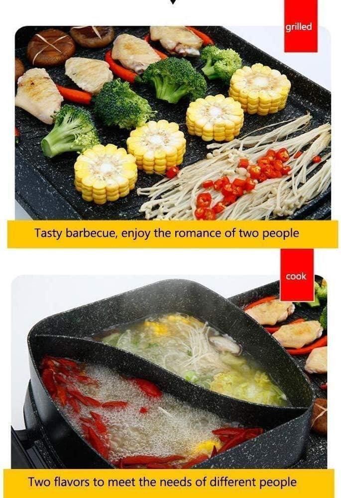 Excellent Électrique Table Top Grill Barbecue Réchaud Ménage Barbecue Pot antiadhésifs sans fumée Teppanyaki Grill Pan (Couleur: B) (Color : A) A