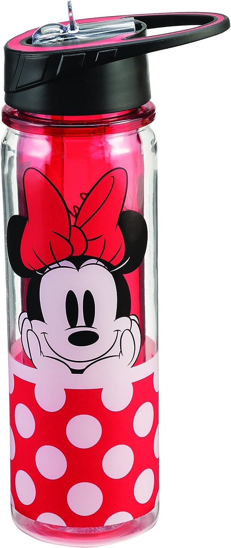 Vandor 89075 Disney Minnie Mouse Tritan Water Bottle, 18 oz, rot by Vandor