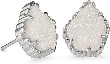 Kendra Scott Tessa Stud Earrings in Iridescent Drusy & Rhodium