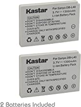 Kastar Battery 2 Pack for Sanyo DB-L40, DB-L40AU and Sanyo Xacti DMX-HD1, DMX-HD1A, DMW-HD2, DMX-HD15, DMX-HD700, DMX-HD80...