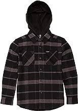 Volcom Boys' Big Shader Hooded Long Sleeve Flannel Shirt