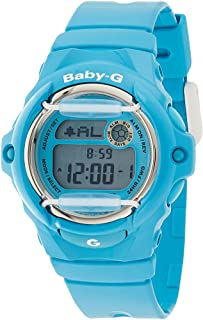 ساعة بيبي-جي من كاسيو للنساء - رقمية بسوار من الراتنج BG-169R-2BDR