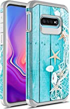 Samsung Galaxy S10e Case, Rosebono Slim Hybrid Dual Layer Shockproof Hard Cover Graphic Fashion Cute Colorful Silicone Ski...