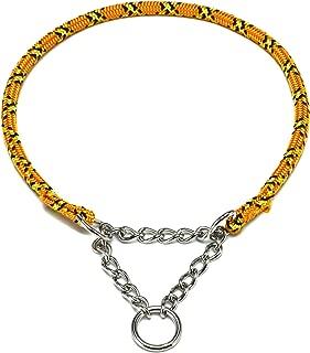 ドッグ・ギア ザイルハーフチョーク首輪 ロープ径6mm オレンジ しつけサイズ 「しつけとおしゃれを両立できる首輪です」