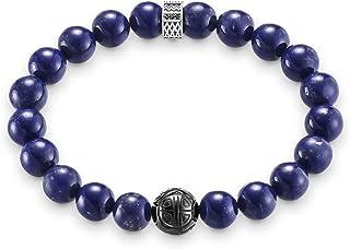 Thomas Sabo Femmes Hommes-Bracelet Rebel at Heart Argent Sterling 925 noirci Pavé d'Oxydes de Zirconium noirs bleu Longeur...