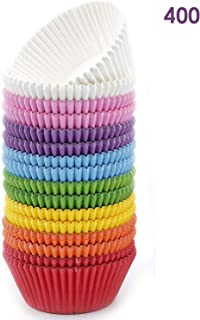 Bakuwe Rainbow Standard Cupcake Liners Colorful Paper Baking Cups 400-Count