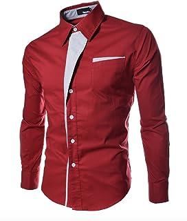 WSLCN メンズ ワイシャツ トップス 形態安定 多色 スリム 着回し 切り替え 通勤 人気 定番 高級感 上品 オシャレ 折り返し袖 人気 かっこいい スレンダー ビジネス
