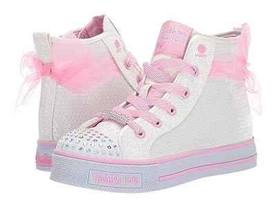 SKECHERS KIDS Twinkle Lite Ms. Sparkle Beauty 20219L (Little Kid/Big Kid) (White/Pink) Girl