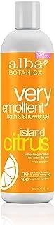 Alba Botanica Very Emollient, Island Citrus Bath & Shower Gel, 12 Ounce