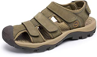 Genuine Leather Men Sandals for Mens Gladiator Sandal Fashion Summer Breathable Male Beach Shoes RXM046