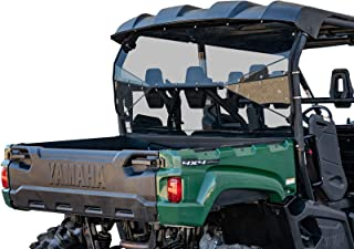 SuperATV Lightly Tinted Polycarbonate Rear Windshield for Yamaha Viking VI (2015+) - Easy to Install!