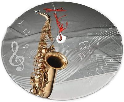 Pengyong Saxofón Notas Musicales árbol de Navidad Falda Exquisita ...