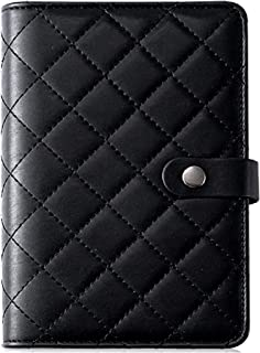 $29 » Black Quilted Checkered Agenda Planner Journal Notepad Diary Organizer Binder Schedule Calendar A6 Personal Size