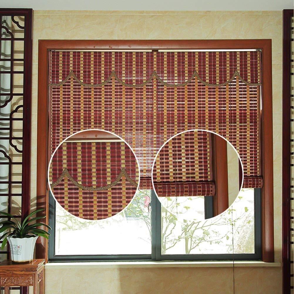 Persianas de madera Persianas for persianas enrollables Sombrilla Cortina de aislamiento Bloqueador solar Bambú 85% Sombreado Persianas enrollables de bambú Persianas romanas Opciones de múltiples tam: Amazon.es: Hogar