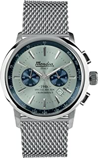 Mondia Italy 1946 crono Mens Analog Japanese Quartz Watch with Stainless Steel Bracelet MI744-2BM