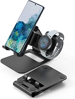 Ringke Super Folding Stand, 2 in 1 Portable Smartphone & Smartwatch Stand Compatible with Galaxy Watch 3 (41mm / 45mm), Ga...