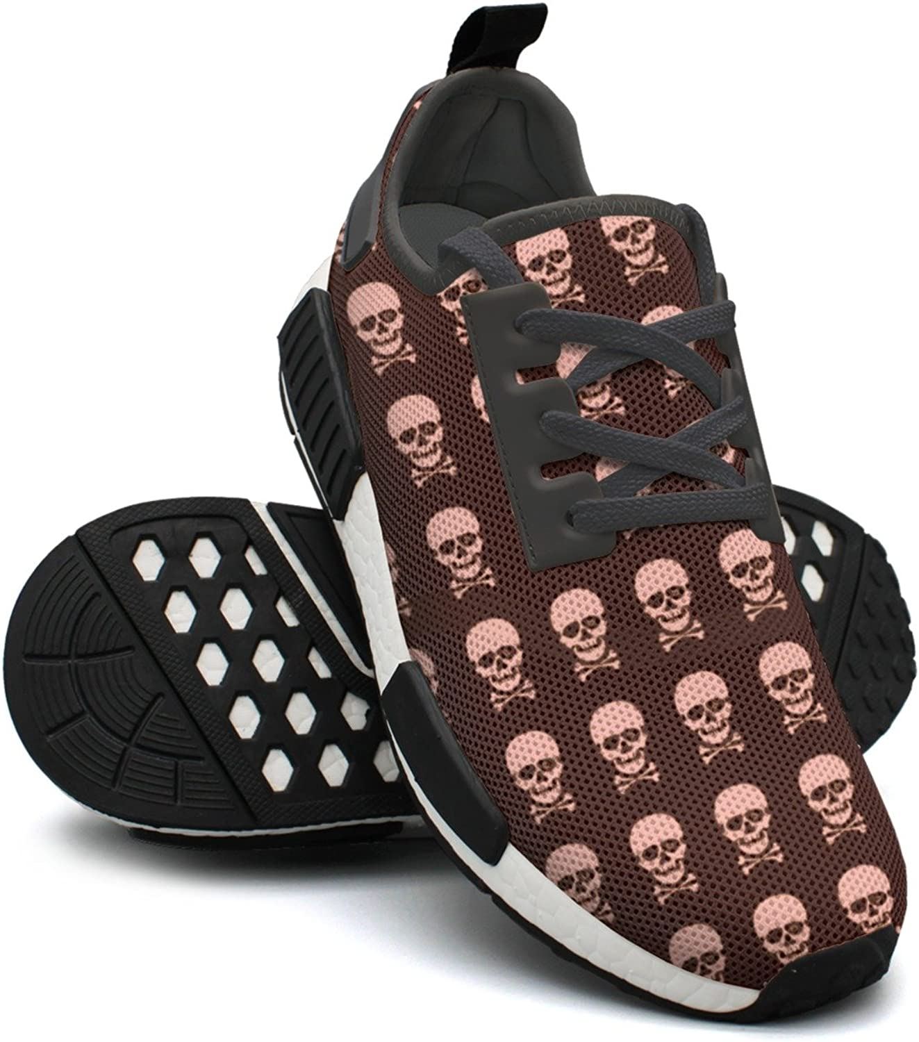 pink Skulls Printed Lace-up Running shoes Nmd Sport shoes