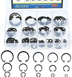 Tricom 12610 Snap Ring Retaining Clip Ring Assortment Kit Plastic Case 18 Sizes 300 Pieces