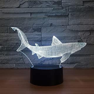 Shark 3D LED Herramientas de pesca Little Fish Lámpara de mesa Decoración para el hogar Cambio de fiesta Luz nocturna Mesita de noche Decoración para dormir Luz