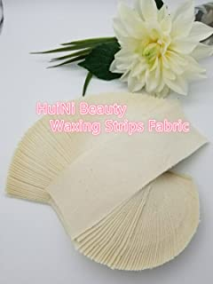 Huini 100 count Natural Muslin Cloth Epilating Waxing Strips 3 X 9 inches CD-807-1