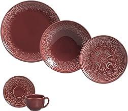 Porto Brasil Ceramica Agra Cassis Dinnerware Set, Service for 4