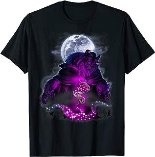 Disney Beauty & The Beast Moon Rose Airbrush Art T-Shirt