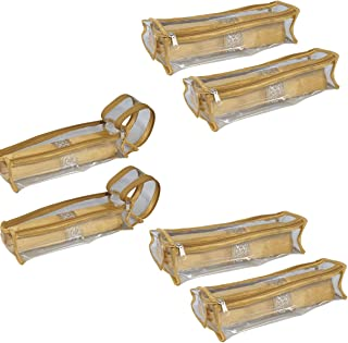 PrettyKraftsBangle Box Roll Set of 6 Travel Bangle case, Bangles Organiser_Golden
