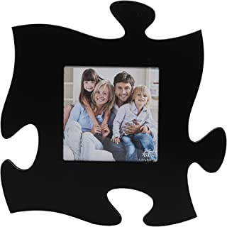 P. Graham Dunn Solid Black 12x12 inch Photo Frame Puzzle Piece Wall Plaque