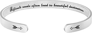 Bracelets for Women Personalized Inspirational Jewelry Mantra Cuff Bangle Friend Encouragement Gift for Her