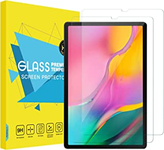 MoKo Compatible with Galaxy Tab A T510/T515 10.1 Screen Protector, [2-Pack] [Anti-Scratch] Double Defence HD Clear 9H Temp...