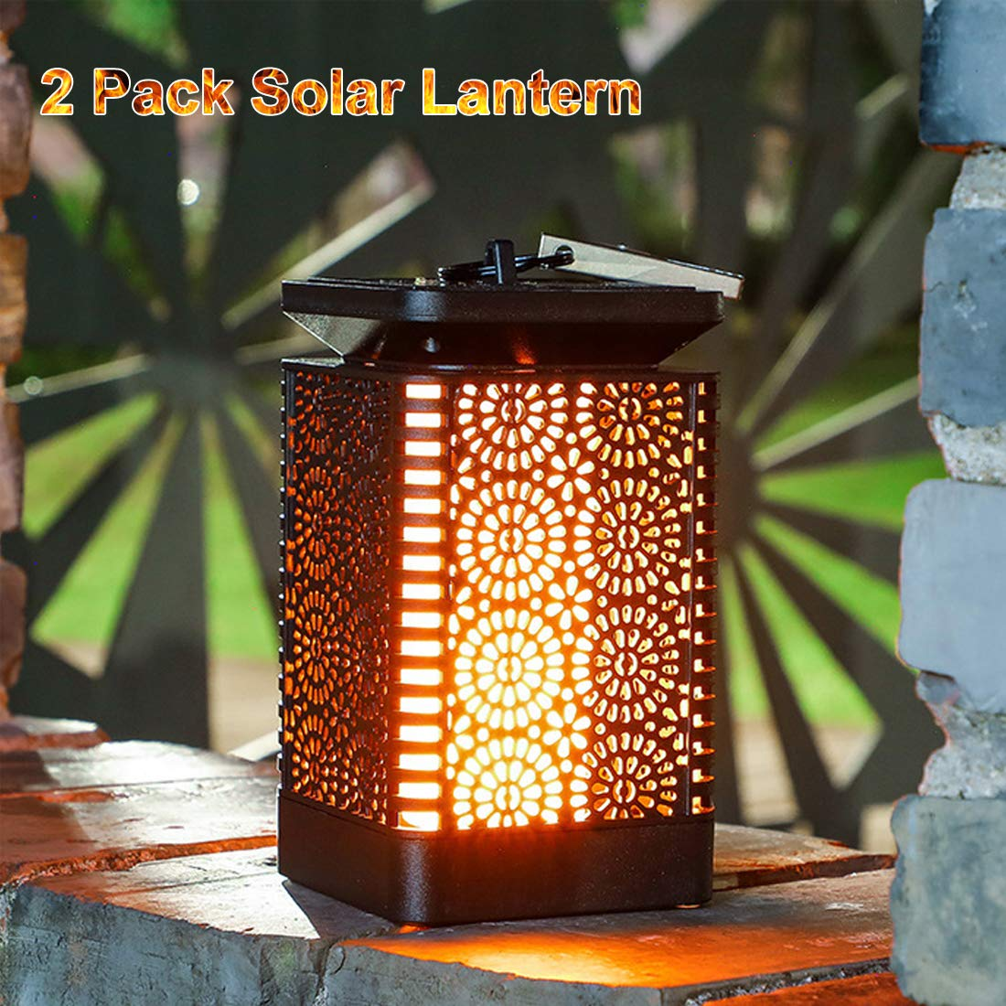 Outdoor//Indoor Decorations Garden Christmas Solar Powered Mosaic Color Changing Mosaic Waterproof Solar Powered Mosaic Glass Table Lamps Party EONHUAYU Mosaic Night Light