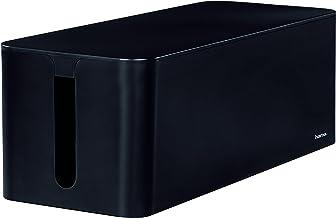 Hama 20664 'Maxi' Cable Box, 15.6 x 40 x 13 cm (W x D x H), with Rubber Feet - Black