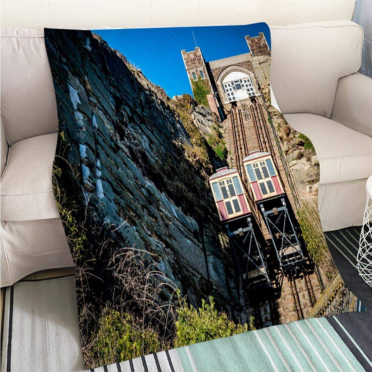 Luxury Super Soft Blanket East Hill Cliff Railway Perfect for Couch Sofa or Bed Cool Quilt