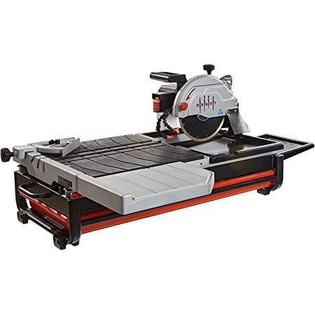 """Lackmond Beast Wet Tile Saw - 10"""" Portable Jobsite Cutting Tool with 15 AMP Motor & Up to 1-7/8"""" Depth of cut at 45° - BEAST10 - - Amazon.com"""