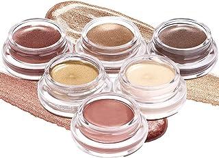 LUXAZA Neutral Brown Cream Eyeshadow Set, Shimmer and Matte Cream Eye Shadows,High Pigmented Metallic Creamy Smoky Eyeshad...