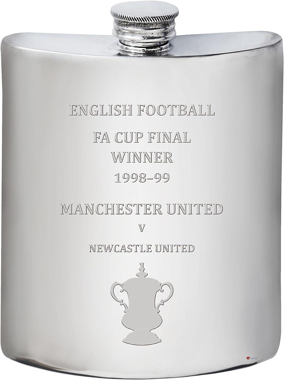 "Compra calidad 100% autentica Manchester United English FA Cup Winner 1998a 1998a 1998a ""99, 6oz Pewter Hip Flask  70% de descuento"